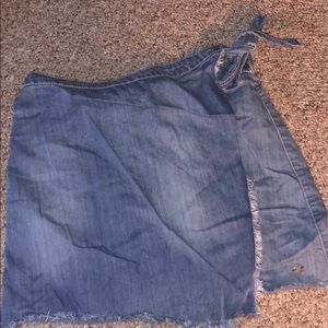 Jean Wrap Skirt